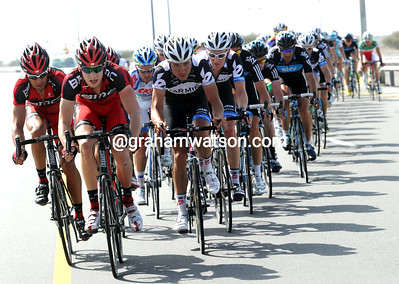Taylor Phinney is in his element as he drives away in front of more experienced men...