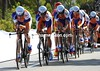 Team Rabobank slipped to a lowly 15th place, 30-seconds down...