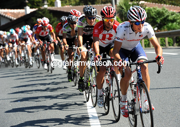 For who is Radio Shack working then? Matthew Busche has been leading a hard chase towards the last climb of the Vuelta...