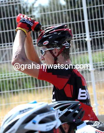 Taylor Phinney is feeling the heat - him and 196 others..!