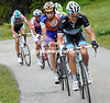 Schleck has done his work and drops back to his brother Frank's group, leaving Fuglsang to fly the Leopard-Treg flag...
