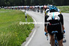 Ben Swift is sitting in a vulnerable position as the peloton speeds along at over 70-kilometres-per-hour..!