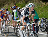 Andy Schleck looks a little uncomfortable in the hilly approach to the finish...