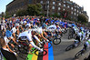 The men start their World Championship by crossing the colours of a rainbow in the centre of Copenhagen...