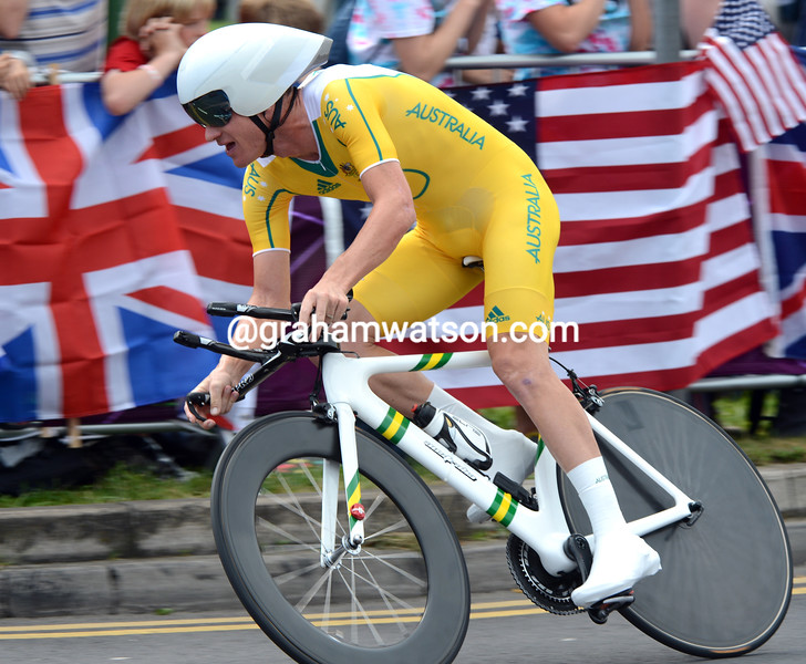 Michael Rogers was the sole Australian entrant in the mens TT - he took 6th at 2' 12""