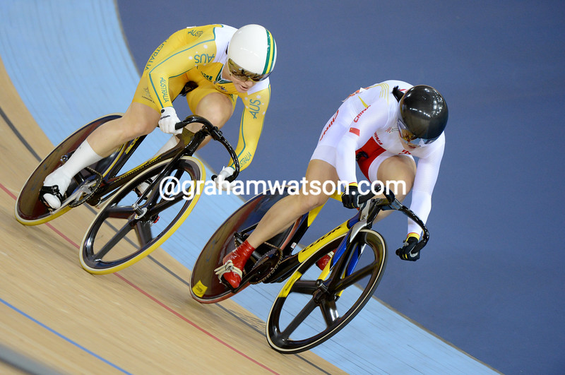 Guo Shuang of China was beaten by Anna Meares in the semi-final but still took the bronze medal in the womens sprint