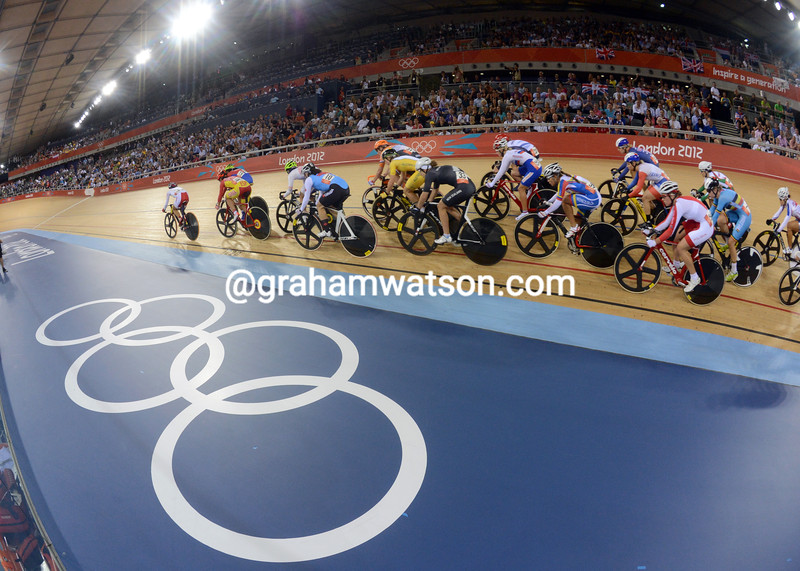 The 2012 Olympic Games track titles took place at the Lea Valley velodrome in London