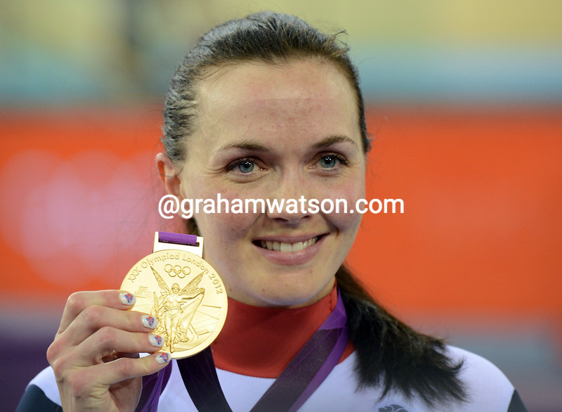 Victoria Pendleton is all smiles after winning the Keirin Gold medal in her last-ever Olympic Games