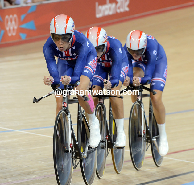 The USA claimed the silver medal in the womens team pursuit