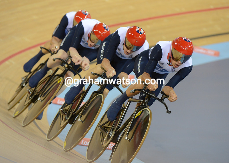 Team GB re-broke their World and Olympic records in the final, with a time of 3'51.65""