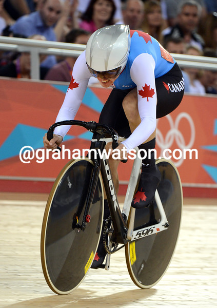 Tara Whitten of Canada took 4th place in the womens Omnium