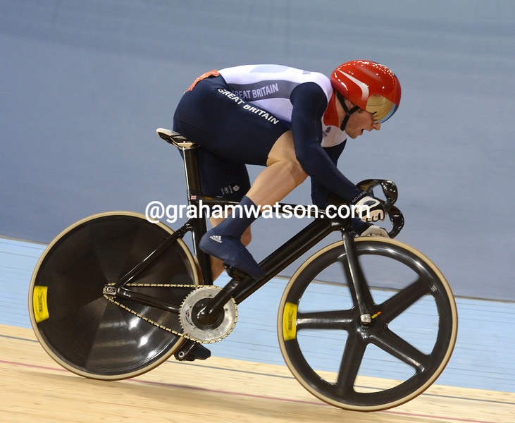 Jason Kenny clocked the fastest time in qualifying for the mens sprint
