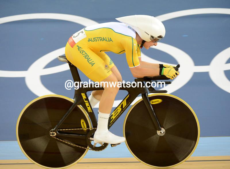 Australia's Annette Edmonson took the bronze medal in the womens omnium