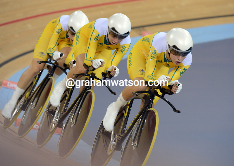 Australia took 4th place in the womens team pursuit