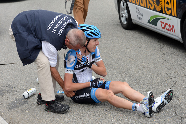 There's nothing broken, but Dan Martin's overall chances have gone with this crash...