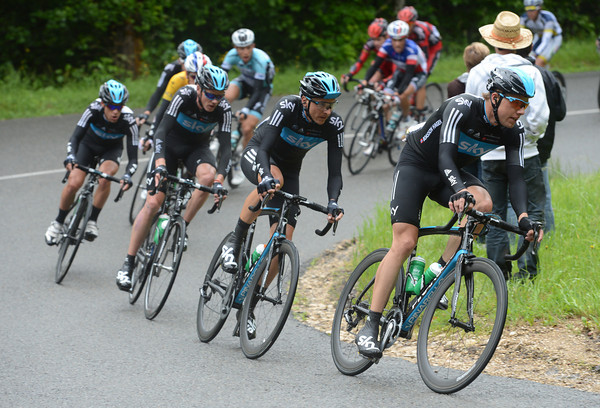 Team Sky and Boasson Hagen are chasing everything down today..!