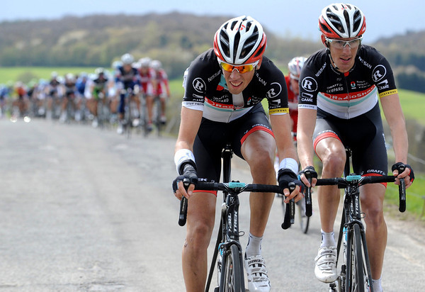 Didier Laurent attacks on an expoased climb, taking Andy Schleck with him for a while...