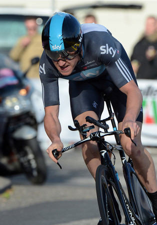 Geraint Thomas failed to repeat his Romandie victory today, but the Brit' took 2nd place, just nine-seconds down...