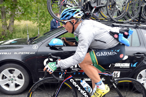 The sprinting is over for riders like Robbie Hunter - fetching food is the new order of the day...