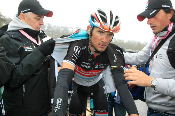 Frank Schleck arrives a little later - what does the rest of the Giro hold for him..?