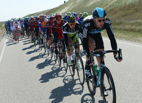 Stannard is doing his bit for Team Sky as well...