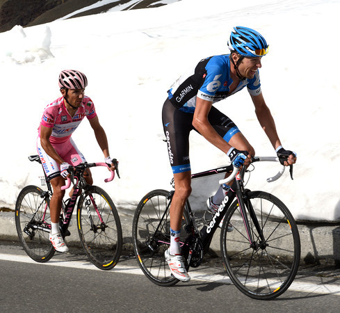Hesjedal rises to the challenge, but Rodriguez is still there too...