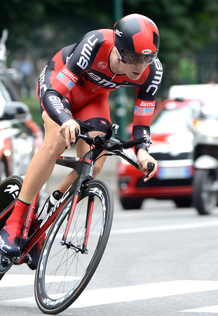 Starting 3rd from last in his near-completion of his first-ever Giro, Taylor Phinney went out to win the final-day TT...