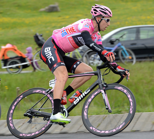 Taylor Phinney seems well assured of staying in Pink today...