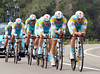 Team Astana rode into 3rd place, 22-seconds down...