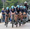 Team Sky disappointed in 9th place, they were 30-seconds off the winning pace...
