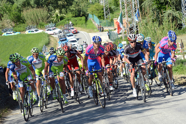 The peloton is climbing the same hill almost four minutes down and not looking likely to get much closer...