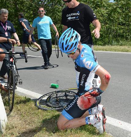 Tyler Farrar has been ripped to pieces in the fall...