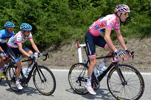 Ryder Hesjedal and Peter Stetina, Maglia Rosa and Maglia Bianca respectively...