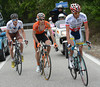 Marczynski, Minguez, Berard and Amador are 12-minutes ahead after 50-kilometres of racing...