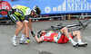 Matthew Goss is down, he's being checked-out by teamate Jens Keukeleire...