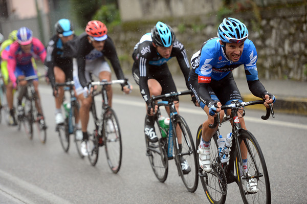 Christophe Le Mevel is chasing flat-out for Garmin and their leaders, Dan Martin and Ryder Hesjedal...