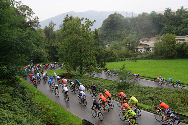The peloton has eased up now, but the roads are no-less dangerous in the rain...