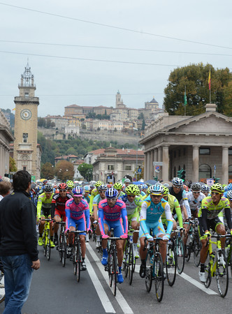 Il Lombardia sets off from its new start in Bergamo, with the Alta Citta as a pleasing backdrop...