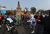 The Piazza del Castillo marks the start of Milan San Remo, in the centre of Milan...
