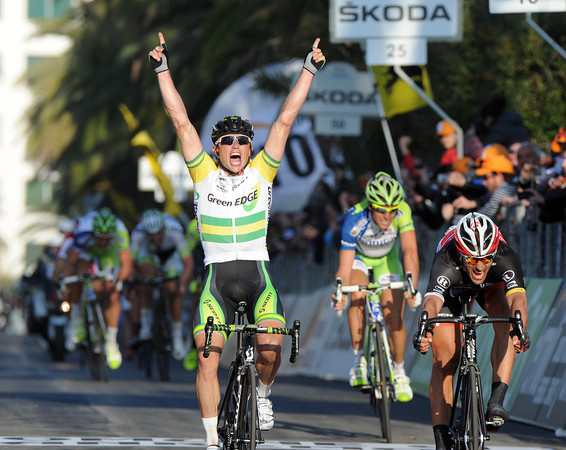 Simon Gerrans wins Milan San Remo after outsprinting Cancellara and Nibali...