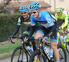 Tyler Farrar and Robbie Hunter have a few hours to have fun before the real work begins...