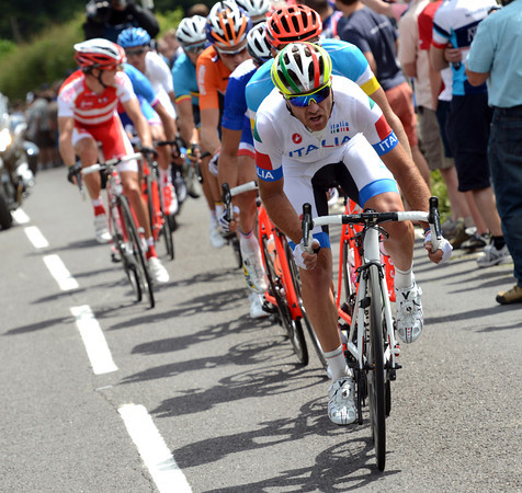 Luca Paolini is keeping the new escape clear for Nibali and Italy...