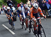 Vos has attacked again and forges a quartet of escapers as the race heads away from Box Hill towards London...