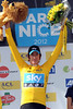 Bradley Wiggins celebrates his Paris-Nice victory, forty-five long years after compatriot Tom Simpson won the race...