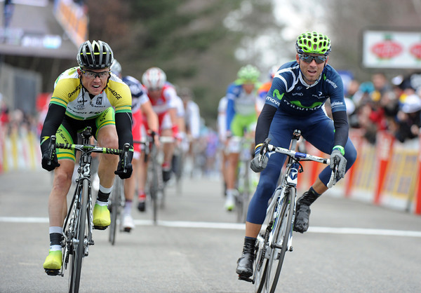 Alejandro Valverde has just beaten Simon Gerrans..!