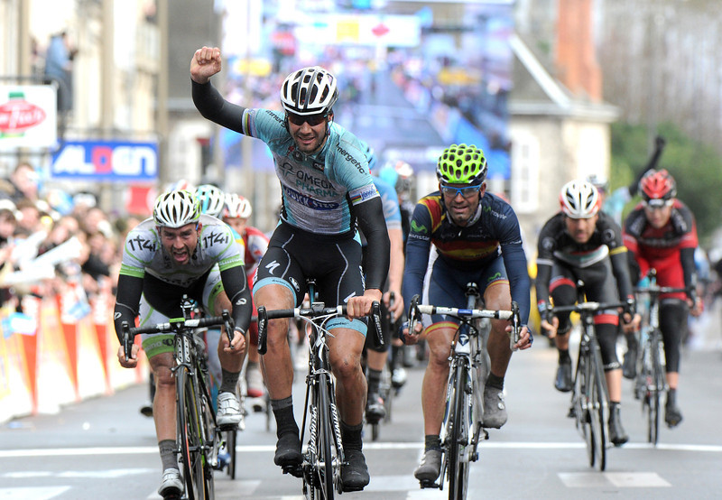 Tom Boonen wins stage two into Orleans - it is the 100th win of his professional career..!