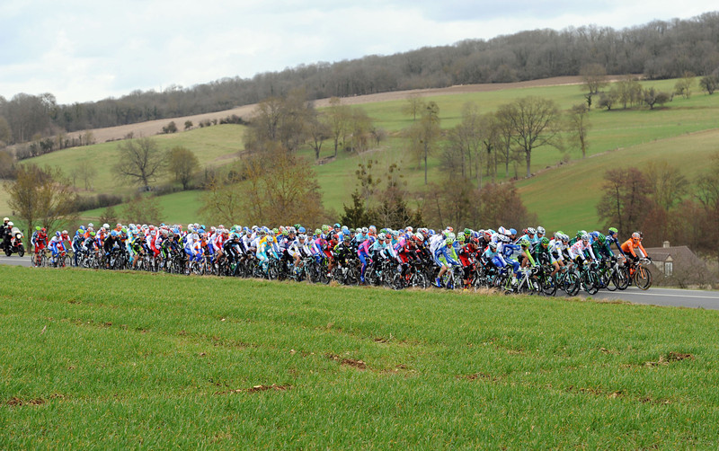 The peloton continues its slumber-speed pace - but there's a reason why...