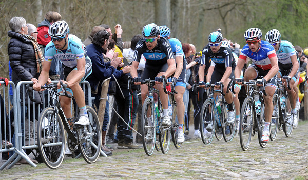 Tom Boonen has shown himself at the head of the splintered peloton...