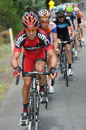 Manuel Quinziato does his best for BMC - they want Kohler, not Clarke, to be leading the race overall..!