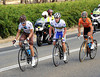 Kadri, McCarthy and Perez arrive in the Barossa Valley about three minutes in front...